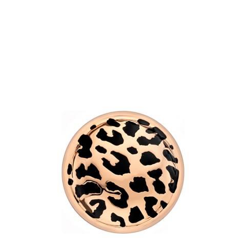 Emozioni 25mm Leopard Print Rose Gold Coin