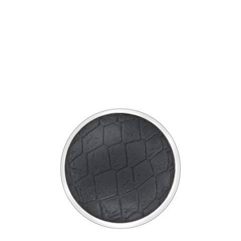 Emozioni 25mm Faux Crocodile Black Coin