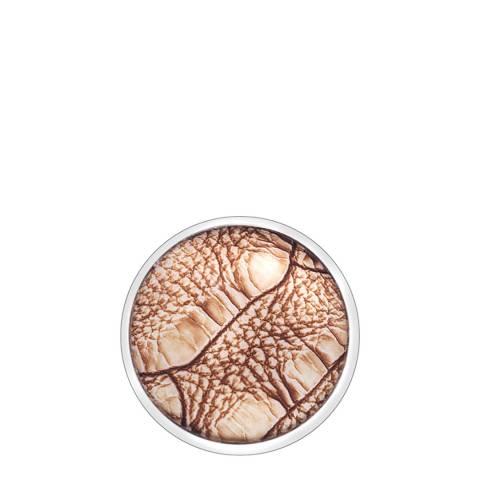 Emozioni 25mm Faux Crocodile Light Brown Coin