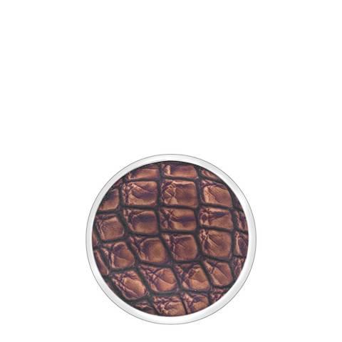 Emozioni 25mm Faux Crocodile Dark Brown Coin