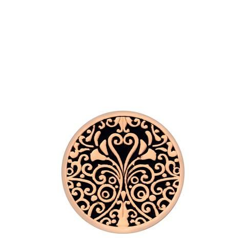 Emozioni 33mm Victorian Ornate Rose Gold Coin