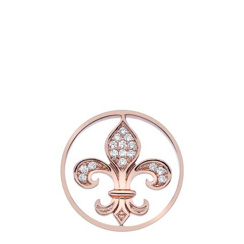 Emozioni Fleur de Lis Coin 25mm Rose Gold Coin