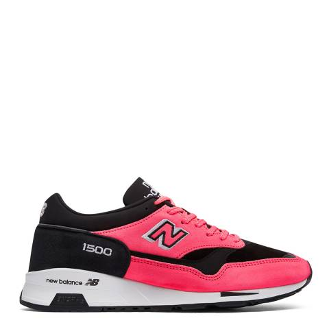 New Balance: Made in UK Neon Pink & Black i500 Low Sneakers