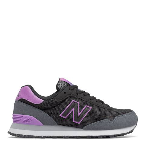 New Balance Purple & Grey 515 Classic Low Sneakers