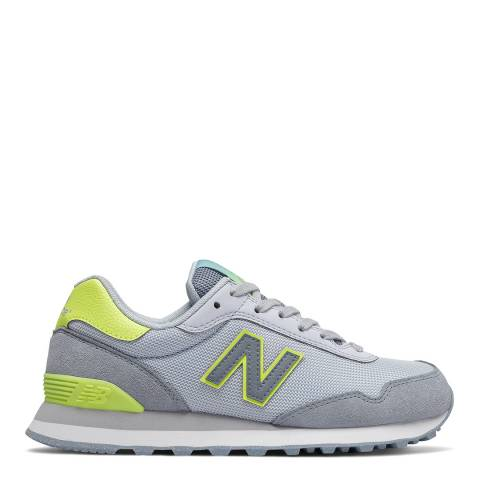 New Balance Blue & Yellow 515 Classic Low Sneakers