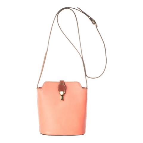 Massimo Castelli Cipria Leather Crossbody Bag