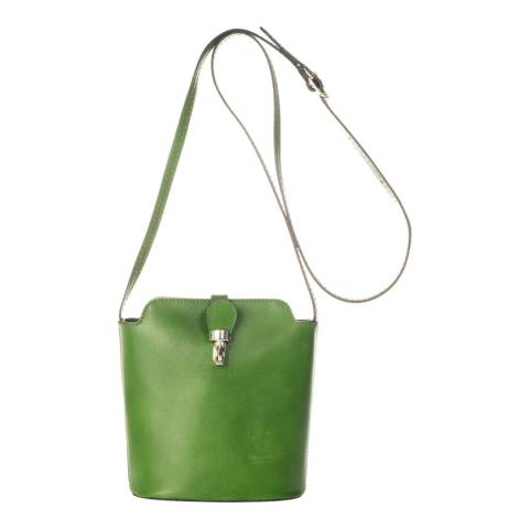 Massimo Castelli Green Leather Crossbody Bag