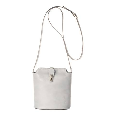 Massimo Castelli Grey Leather Crossbody Bag