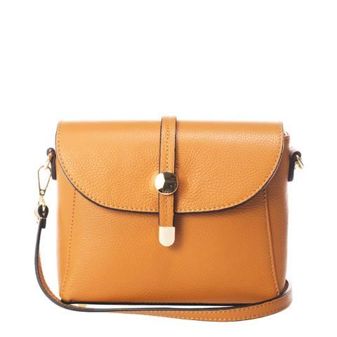 Lisa Minardi Cognac Leather Crossbody Bag