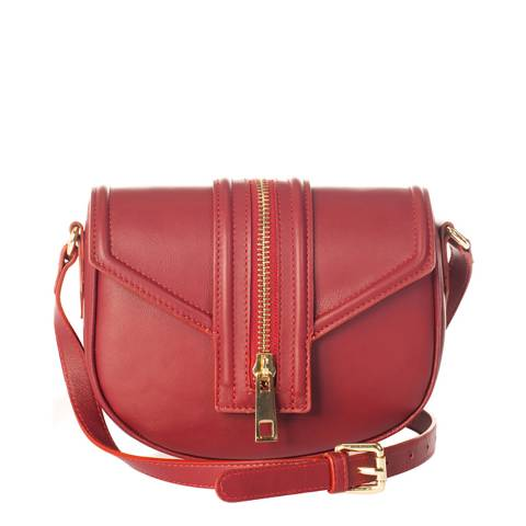 Massimo Castelli Red Leather Crossbody Bag
