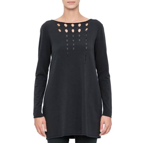 SARAH PACINI Charcoal Long Tulip Jumper
