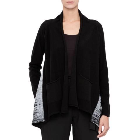 SARAH PACINI Black Wool Blend Soft Cardigan