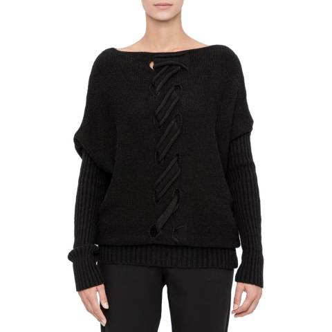 SARAH PACINI Long sweater – cable knit detail