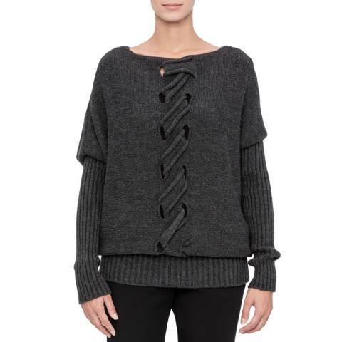 SARAH PACINI Long sweater – cable knit detail