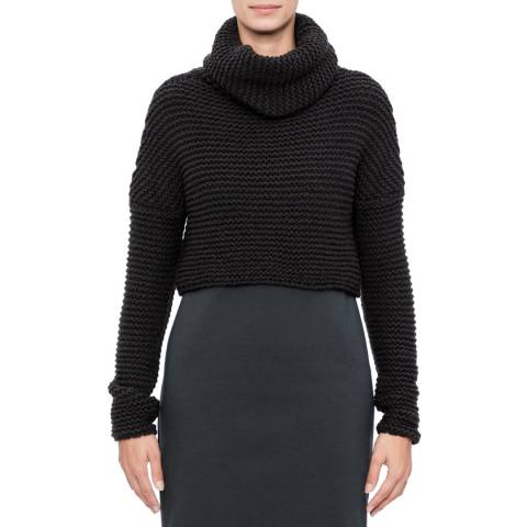 SARAH PACINI Funnel neck short sweater