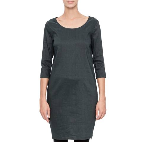 SARAH PACINI Charcoal Short Fitted Dress