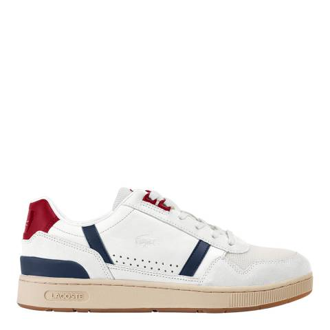 Lacoste White/Navy/Red T Clip 120 Trainers