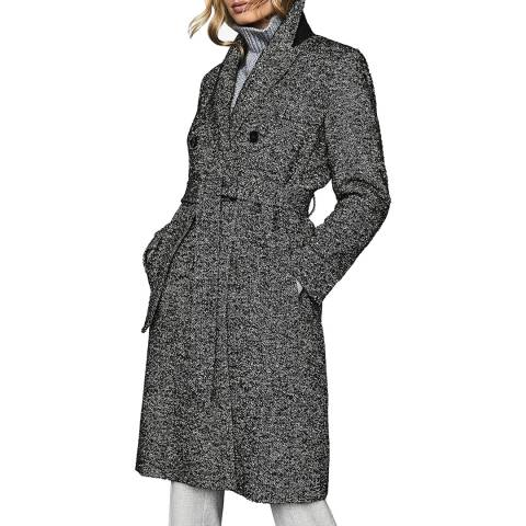 Reiss Multi Madelyn Boucle Wool Blend Coat