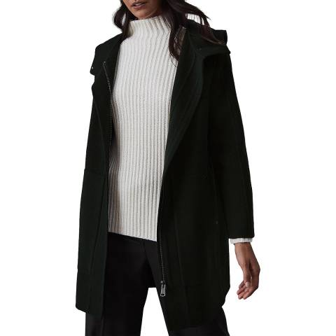 Reiss Green Delaney Wool Blend Coat