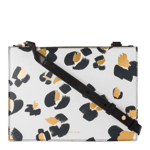 PAUL SMITH White Leopard Crossbody