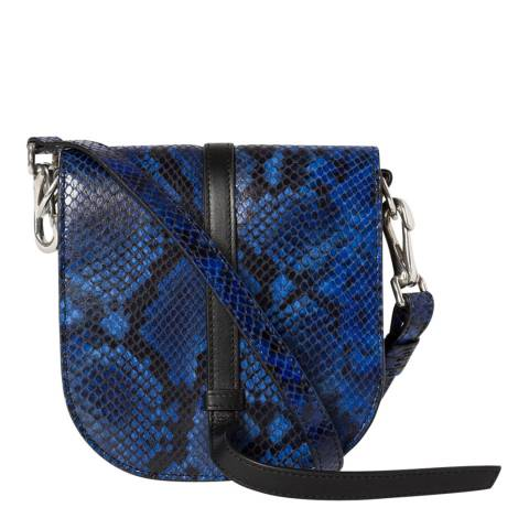 PAUL SMITH Blue Snake Mini Satchel