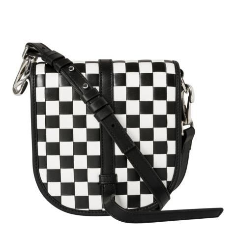 PAUL SMITH Black Checkerboard Mini Satchel