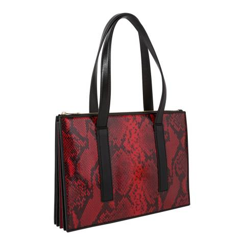 PAUL SMITH Red Snake Concertine Tote