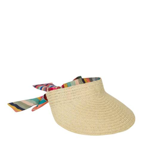 PAUL SMITH Tan Swirl Visor Hat