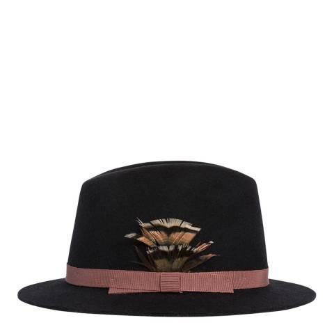 PAUL SMITH Slate Feather Fedora Hat
