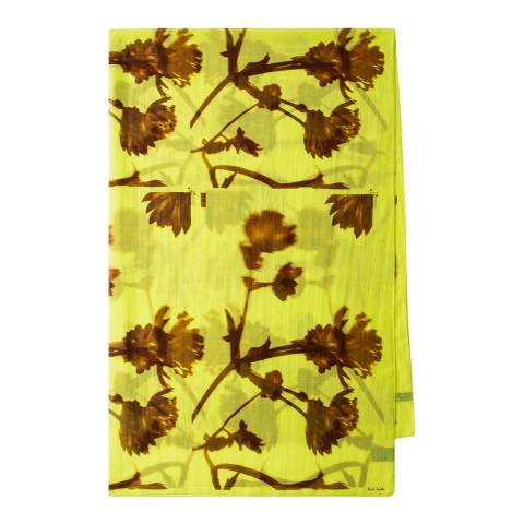 PAUL SMITH Yellow Floral Screen Scarf