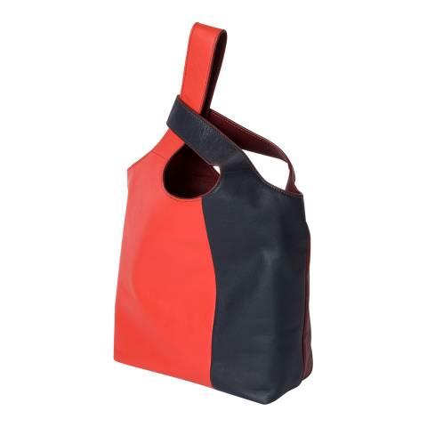 PAUL SMITH Red, Burgundy & Navy Hobo Bag