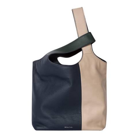 PAUL SMITH Nude, Green & Navy Small Hobo Bag