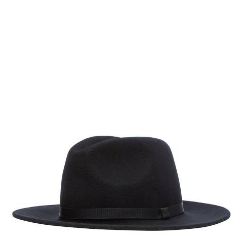 PAUL SMITH Black Hat Lined Fedora