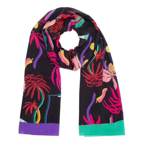 PAUL SMITH Dark Navy Urban Jungle Scarf