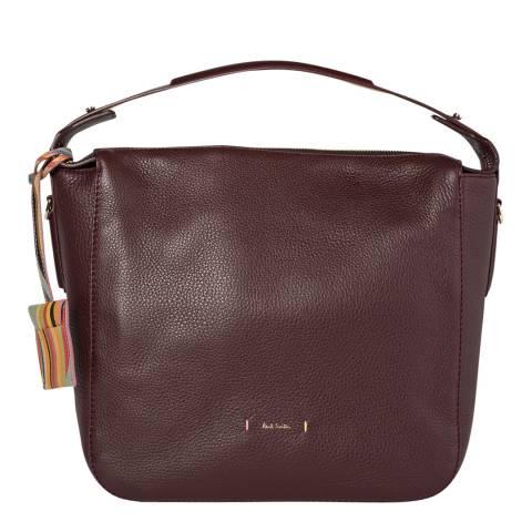 PAUL SMITH Burgundy Westbourne Mini Hobo Bag