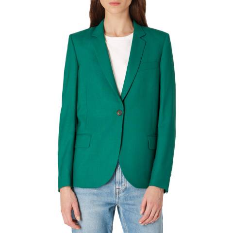 PAUL SMITH Green Wool Tailored Jacket