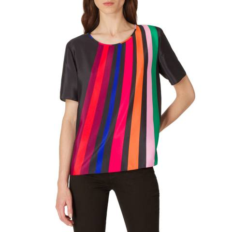PAUL SMITH Black Crew Stripe T-Shirt