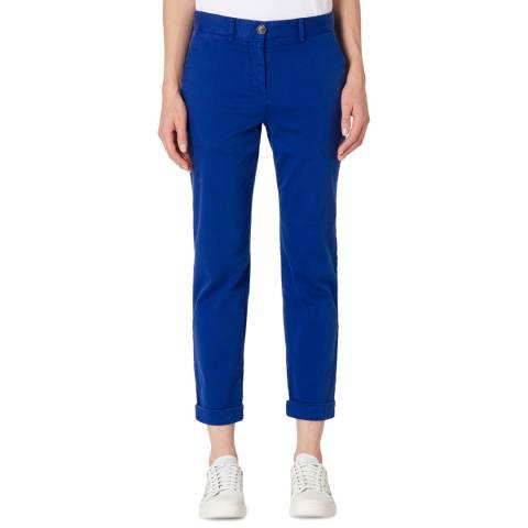 PAUL SMITH Blue Boyfriend Fit Stretch Trousers