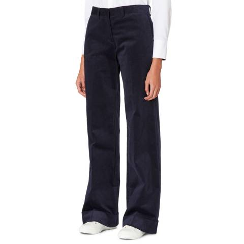 PAUL SMITH Navy Cord Wide Leg Trousers