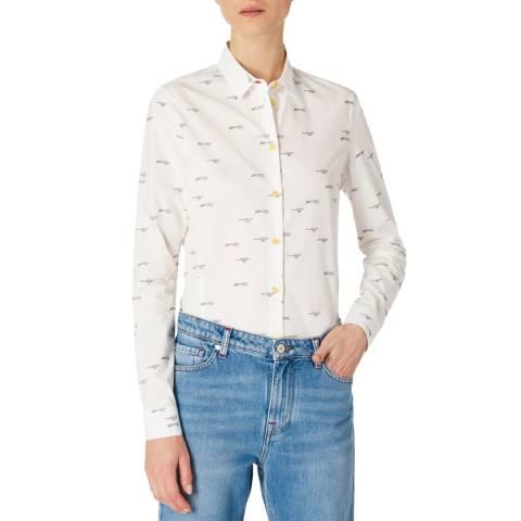 PAUL SMITH White Leopard Shirt