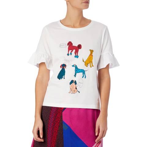 PAUL SMITH White Dog Day T-Shirt