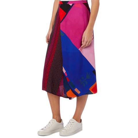 PAUL SMITH Pink Divided Print Skirt