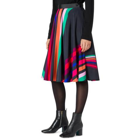 PAUL SMITH Black Stripe Pleat Skirt