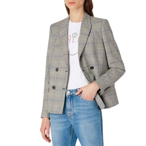 PAUL SMITH Beige Check Tailored Jacket