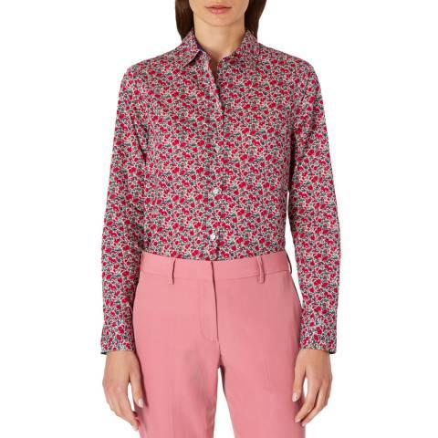 PAUL SMITH Pink Floral Print Shirt