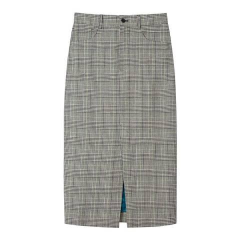 PAUL SMITH Grey Check Pencil Skirt