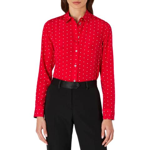 PAUL SMITH Red Dot Silk Shirt