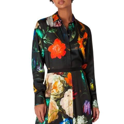 PAUL SMITH Black Flower Print Shirt
