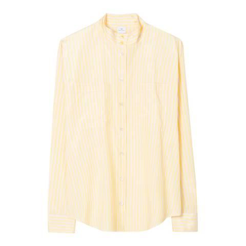 PAUL SMITH Yellow High Neck Stripe Shirt