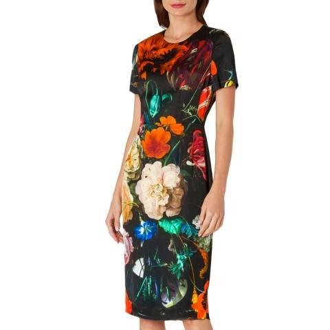 PAUL SMITH Black Flower Print Dress